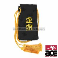 Black Sword Bag With Gold Tassels