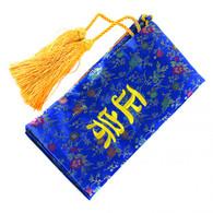 Blue Sword Bag With Gold Tassels