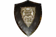 Medieval Knight Shield with Double Headed Eagle Crest