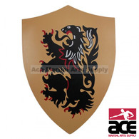 Rampant Lion Medieval Knight Heater Shield Armor Chain