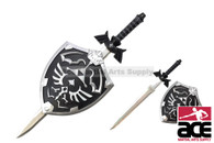 Legend of Zelda Twilight Princess Link Master Sword & Hylian Shield Wall Hanger - Black