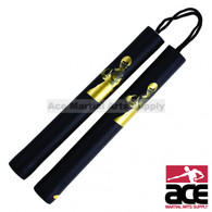 "28"" Bruce Lee Foam Padded Nunchuck With Nylon Rope"