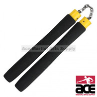 "9.75"" Foam Nunchaku With Chain Link (Black)"
