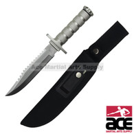 "12"" Stainless Steel Survival Knife W/ Sheath And Kit"