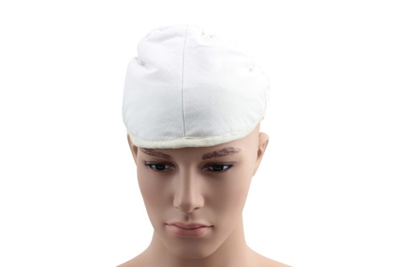 Arming caps provide comfort when wearing all armored helmets, such as steel Medieval helmets, Viking helmets, etc.  Made from 100% cotton, this arming cap is  a must have when wearing such helmets for cosplay or productions!