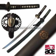 1045 High Carbon Steel Handmade Musashi Oda Mon Katana Sword