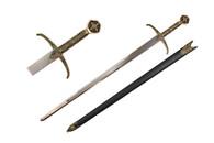 """40"""" Robin Hood Locksley Medieval Arming Sword W/ Scabbard"""