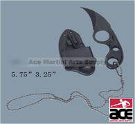 All Black Tactical Neck Knife With Sheath