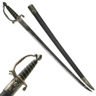 "38"" Classic Caribbean Pirate Cutlass Sword with Wire Wrapped Handle"