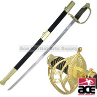 """Full Size 39"""" Civil War CSA Confederate Cavalry Officer Sword Saber Gold C.S.A"""