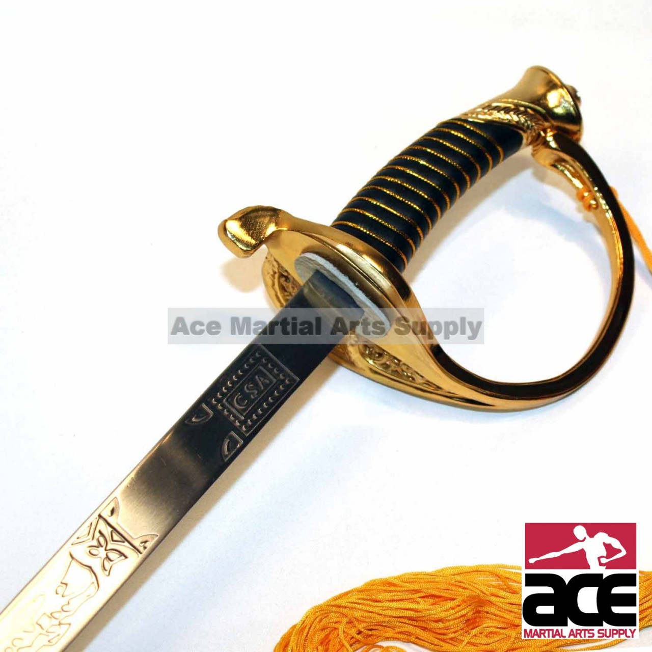 "Full Size 39/"" Civil War CSA Confederate Cavalry Officer Sword Saber Gold C.S.A."