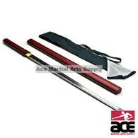 Handmade Zatoichi Straight Shirasaya Katana Sword Sharp