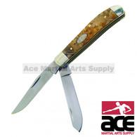 Double blade trapper pocket knife