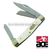 Triple blade small stockman pocket knife