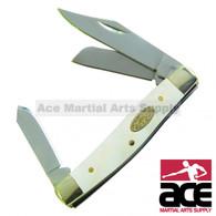 Triple blade small stockman pocket knife