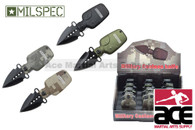12 Piece Assorted Colors Water Canteen Pocket Knives With Display Case