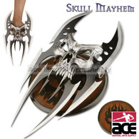 SKULL MAYHEM III FANTASY CLAW DAGGER WITH PLAQUE