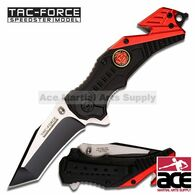 "Tac Force TF-640FD 7.5"" Fire Fighter Spring Assisted Folding Knife"