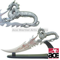 "21.5"" Fire Dragon Dagger with Display Stand"