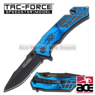 "7.5"" TAC FORCE SPIDER SPRING ASSISTED FOLDING KNIFE"