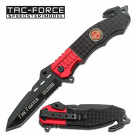 "8.5"" Firefighter Spring Assisted Pocket Knife by Tac Force"