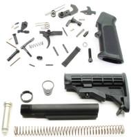 Surplus Ammo | Surplusammo.com DPMS AR15 Lower Parts Kit + Commercial Tapco AR15 T6-Stock Assembly - Black DPMS-LPK-TP-STK
