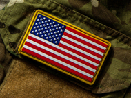 US Flag PVC Morale Patch Red, White & Blue Surplus Ammo