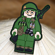 Always Outnumbered Never Outgunned | PVC Velcro Patch The Joker Brick Operator - Full Metal Jacket Morale Patch Surplus Ammo