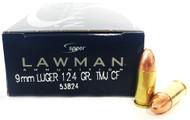 9mm 124 Grain TMJ Speer Lawman Clean-Fire - 1000 Rounds