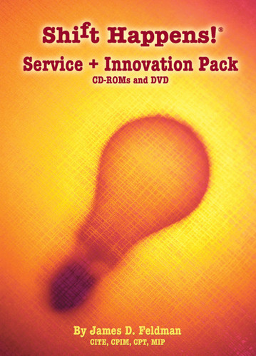Shift Happens Service & Innovation Pack DVD and CD-ROMS - Featuring 3DThinking, DATING Your Customer, Doctor Travel and Meaningful Memories.