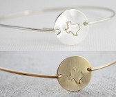 round disc bangle • silver or gold