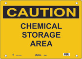 Master Lock S5400 Chemical Storage Area Caution Sign