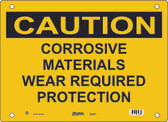 Master Lock S5500 Corrosive Materials Wear Required Protection Caution Sign