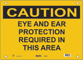 Master Lock S6300 Eye and Ear Protection Required In This Area Caution Sign