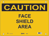 Master Lock S6500 Face Shield Area Caution Sign