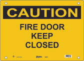 Master Lock S6550 Fire Door Keep Closed Caution Sign