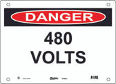 Master Lock S10050 480 Volts Danger Sign