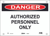 Master Lock S10300 Authorized Personnel Only Danger Sign