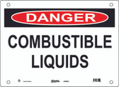 Master Lock S10800 Combustable Liquids Danger Sign