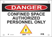 Master Lock S11000 Confined Space Authorized Personnel Only Danger Sign