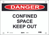 Master Lock S11450 Danger Sign Confined Space Keep Out