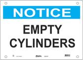 Master Lock S21100  Notice Empty Cylinders Notice Sign