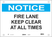 Master Lock S21300  Notice Fire Lane Keep Clear At All Times Notice Sign