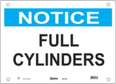 Master Lock S21500  Notice Full Cylinders Notice Sign