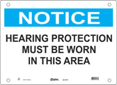 Master Lock S21700  Notice Hearing Protection Must Be Worn In This Area Notice Sign