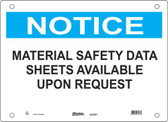 Master Lock S22000  Notice Material Safety Data Sheets Available Upon Request Notice Sign