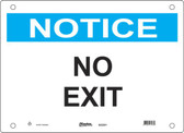 Master Lock S22200  Notice No Exit Notice Sign