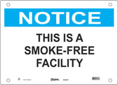 Master Lock S23450  Notice This Is A SmokeFree Facility Notice Sign
