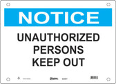 Master Lock S23650  Notice Unauthorized Persons Keep Out Notice Sign