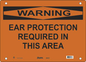 Master Lock S25800  Warning Ear Protection Required In This Area Warning Sign